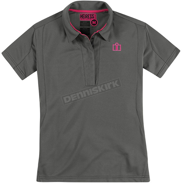 Icon Womens Charcoal Heiress Polo Shirt - 3041-0538