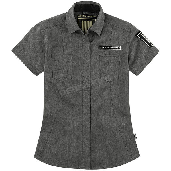 Icon Womens 1000 Charcoal Virture Shop Shirt  - 3041-0542