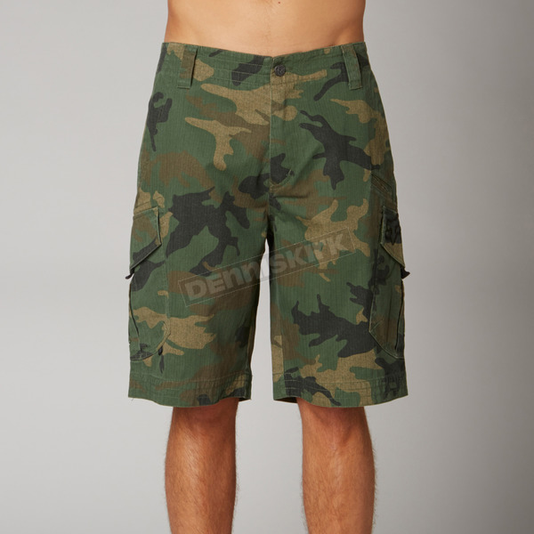Fox Green Camo Slambozo Cargo Shorts - 08719-031-44