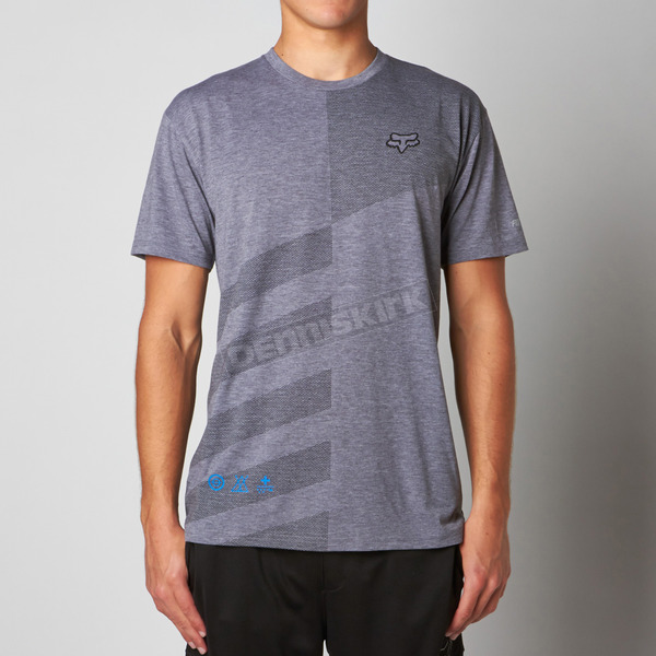 Fox Heather Graphite Border Time Tech T-Shirt - 09744-185-2X