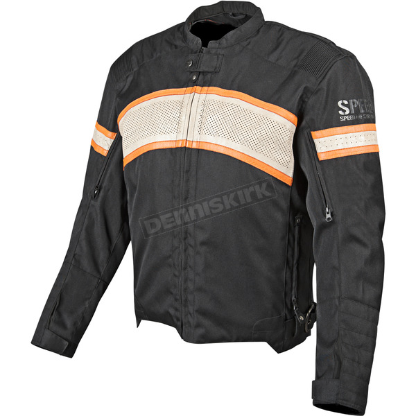 Speed and Strength Black/Cream/ Orange Cruise Missile Jacket - 87-7780