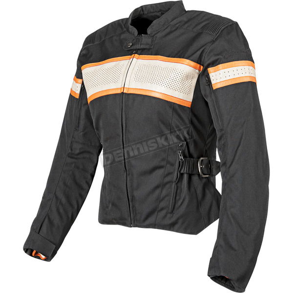 Speed and Strength Womens Black/Cream/Orange American Beauty Jacket - 87-7788