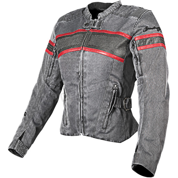 Speed and Strength Womens Vintage Black/Red American Beauty Jacket - 87-7797