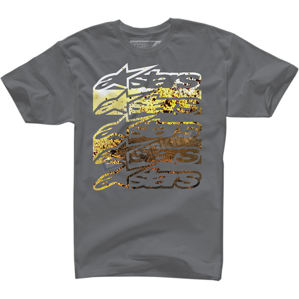 Alpinestars Charcoal Dirt Spray T-Shirt  - 100372709182X