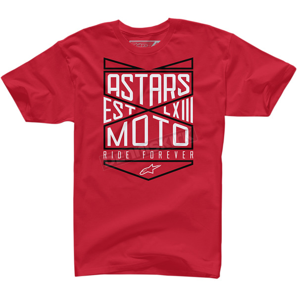 Alpinestars Red Ride Forever T-Shirt  - 100372711030M