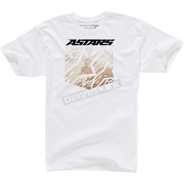 Alpinestars White Shield T-Shirt  - 100372712020XL