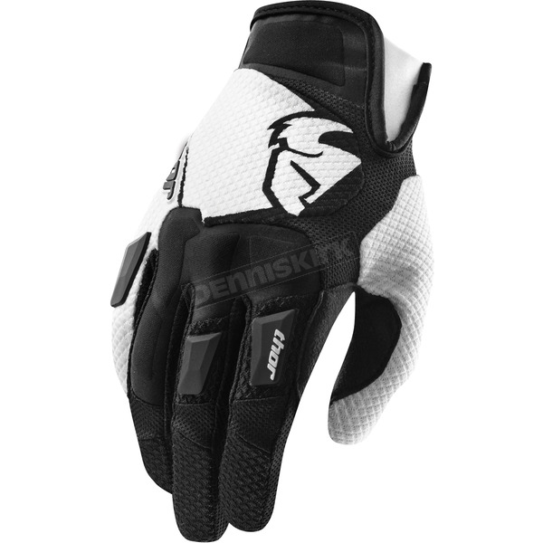 Thor Black Flow Gloves - 3330-3063