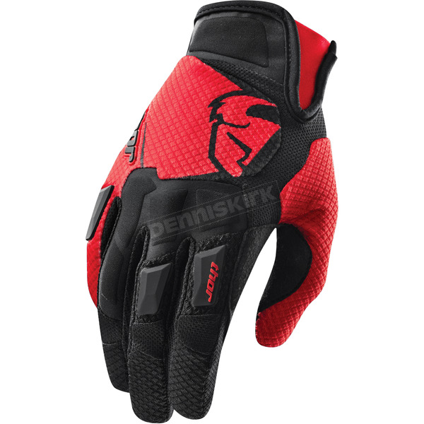 Thor Red Flow Gloves - 3330-3080