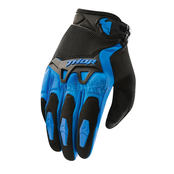 Thor Youth Blue Spectrum Gloves - 3332-0902