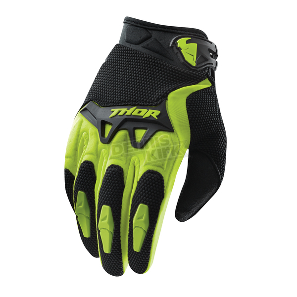 Thor Youth Green Spectrum Gloves - 3332-0907