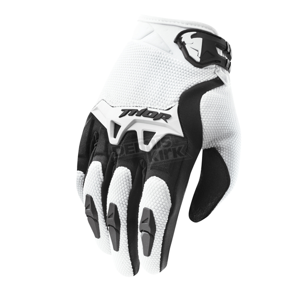 Thor Youth White Spectrum Gloves - 3332-0919