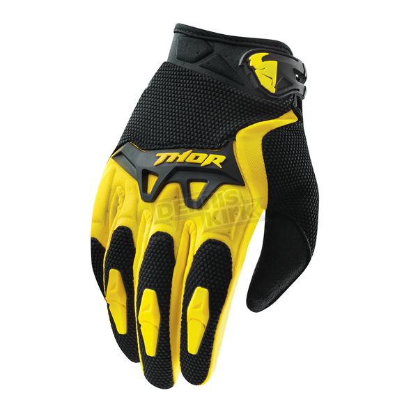Thor Youth Yellow Spectrum Gloves - 3332-0923