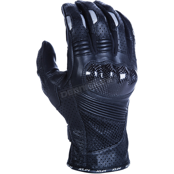 Klim Black Induction Gloves w/Short Gauntlets - 5028-000-130-000