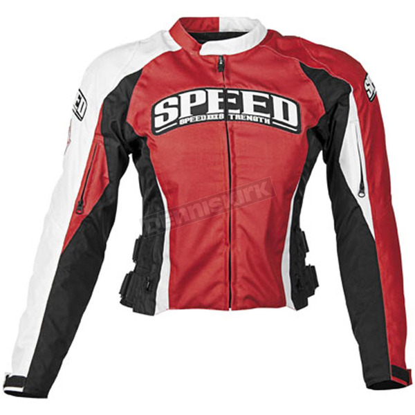 Speed and Strength Womens Red Throttle Body Textile Jacket - 87-7247