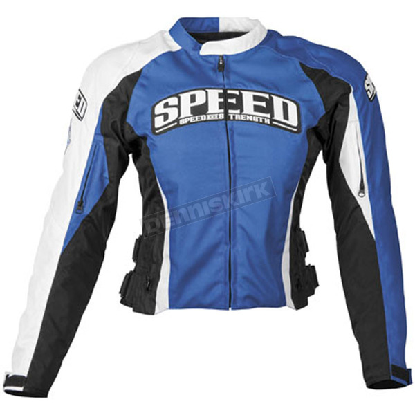 Speed and Strength Women Blue Throttle Body Textile Jacket - 87-7260