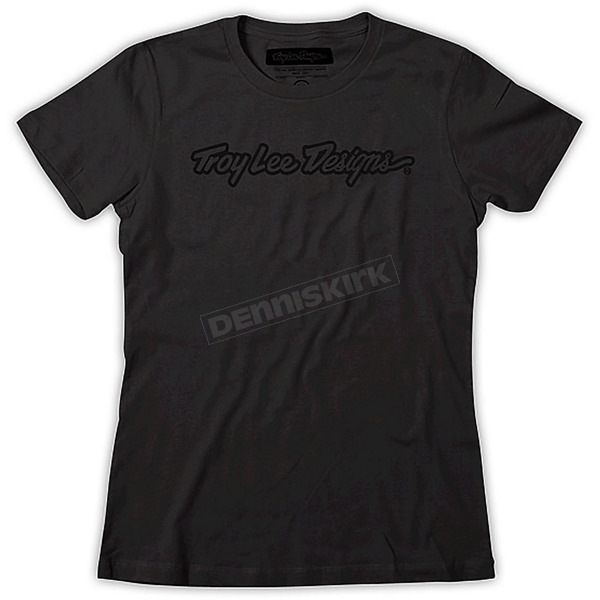 Troy Lee Designs Womens Black Signature T-Shirt - 6129-3203