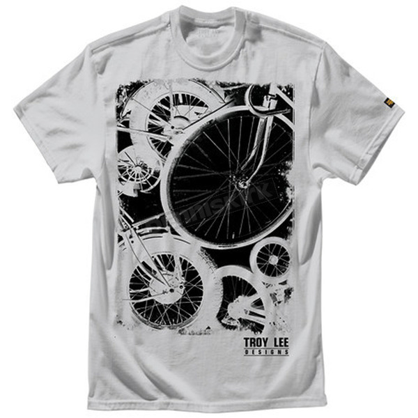 Troy Lee Designs Silver Gray Wheels T-Shirt - 6129-3908