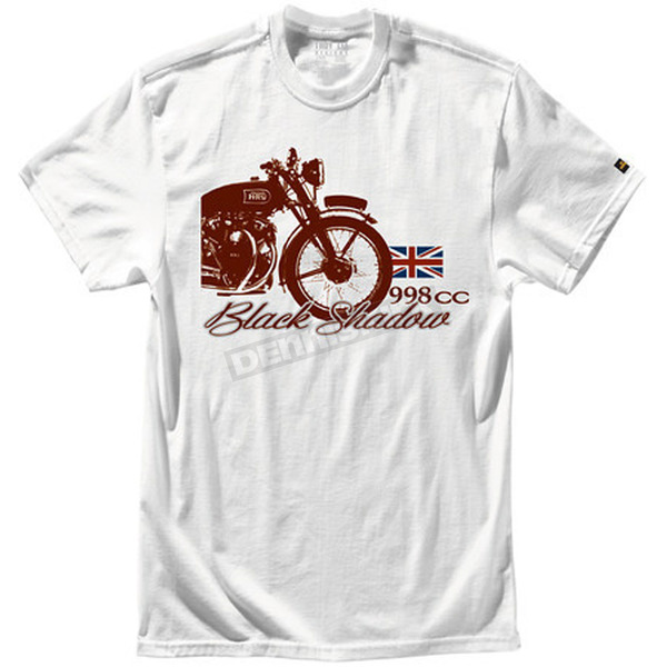 Troy Lee Designs White V Shadow T-Shirt - 6133-3108