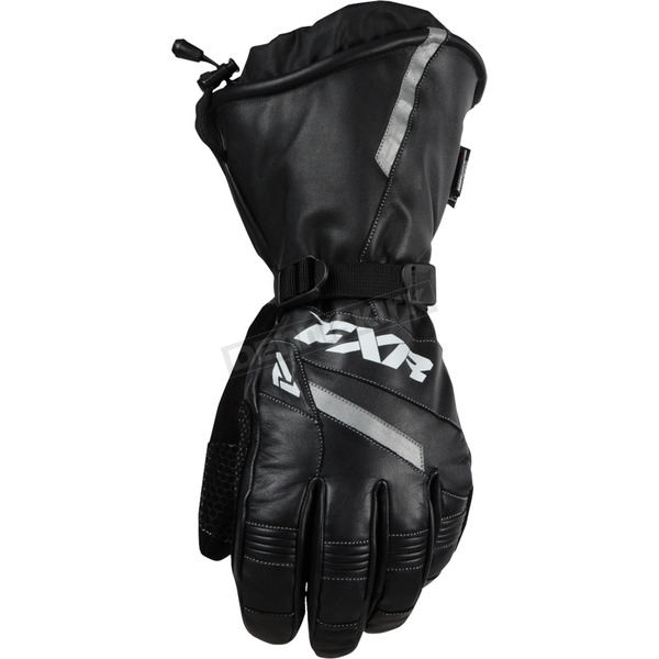 FXR Racing Black Leather Gauntlet Gloves - 15600.10007
