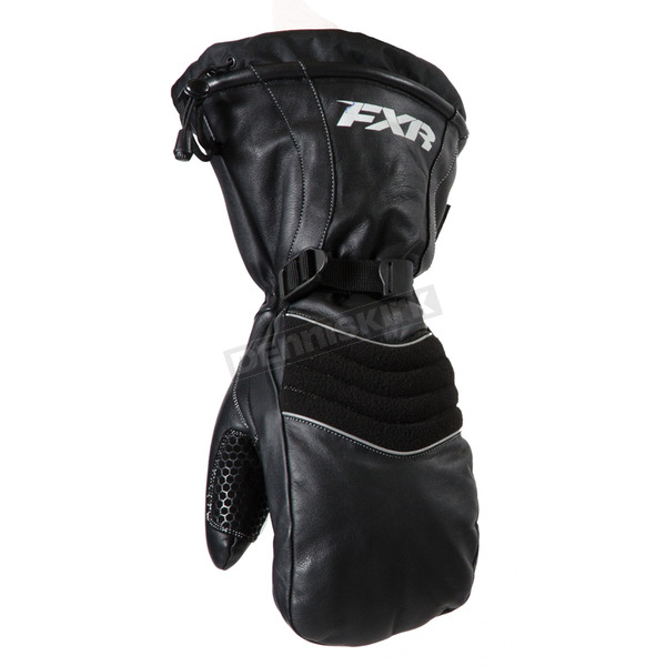 FXR Racing Black Leather Mitts - 15602.10013