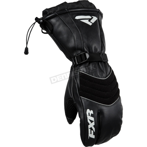 FXR Racing Black Leather Index Mitts - 15603.10025