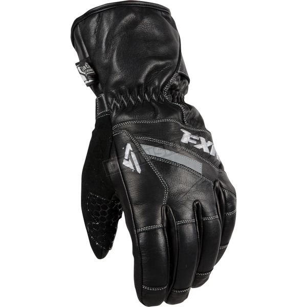 FXR Racing Black Leather Short Cuff Gloves - 15601.10016