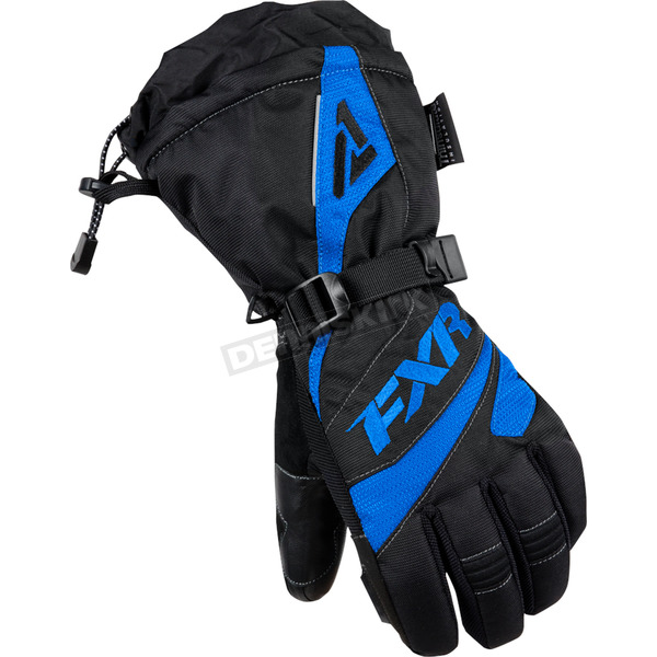 FXR Racing Womens Black/Blue Fusion Gloves - 15614.40107