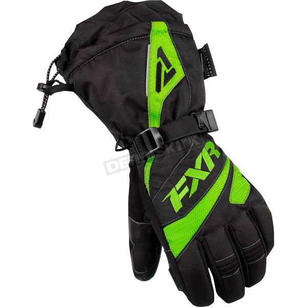 FXR Racing Womens Black/Lime Fusion Gloves - 15614.70116