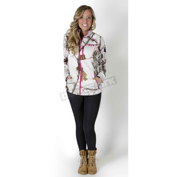 FXR Racing Womens APHD Snow Camo Elevation Fleece Zip-Up - 15864.03314