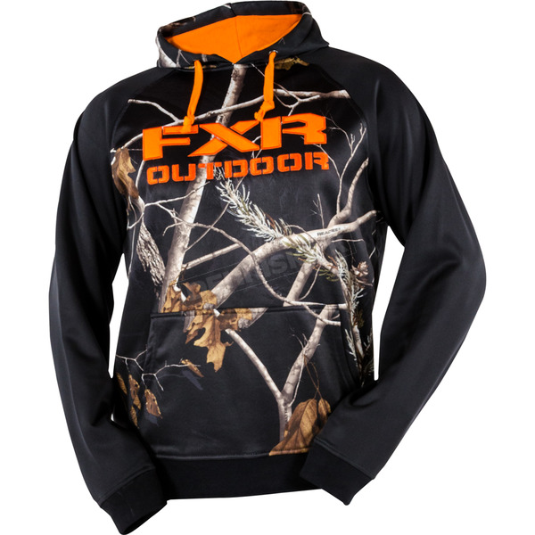 FXR Racing Black/AP Black Camo Stealth Bonded Fleece Hoodie - 15801.13310