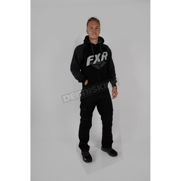 FXR Racing Black/Charcoal Compete Zip Hoodie - 15805.10010