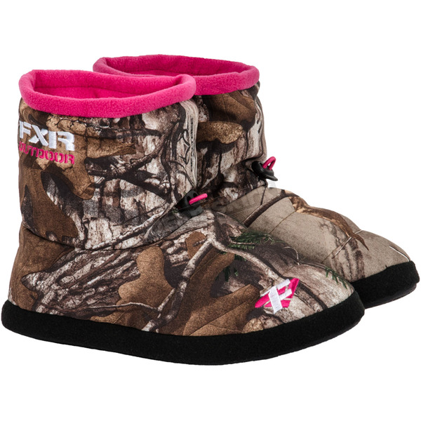 FXR Racing Womens Realtree Camo Slip-On Booties - 14842.33310