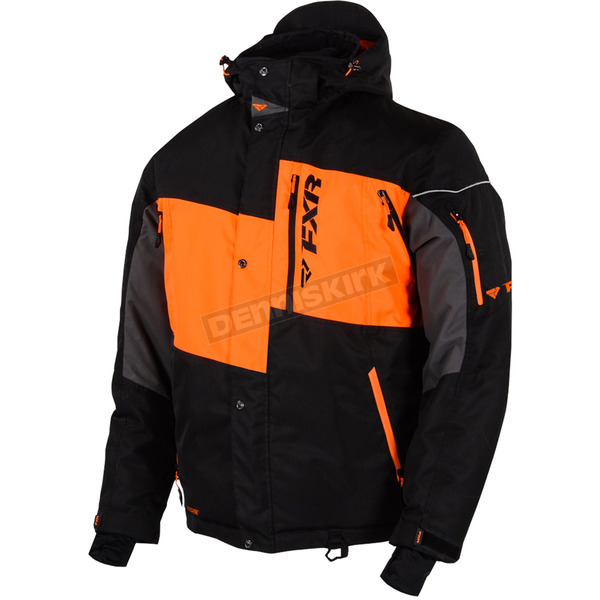 FXR Racing Black/Orange Squadron Jacket - 15107.30110