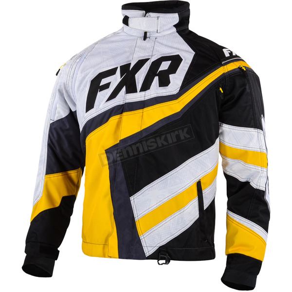 FXR Racing Black/Yellow Cold Cross Jacket - 15116.60122