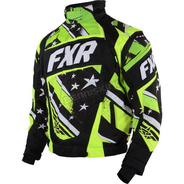 FXR Racing Black/Lime Stars and Steipes Helix Jacket - 15114.70110