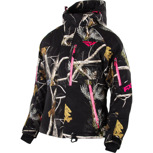 FXR Racing Womens AP Black Camo Fresh Jacket - 15210.13304