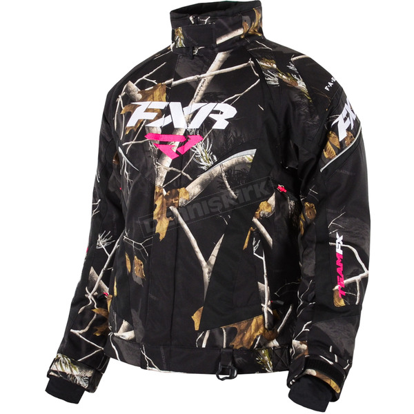 FXR Racing Womens AP Black Camo Team Jacket - 15200.13306