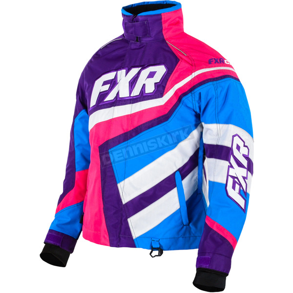 FXR Racing Womens Purple/Fuchsia Cold Cross Jacket - 15204.94010