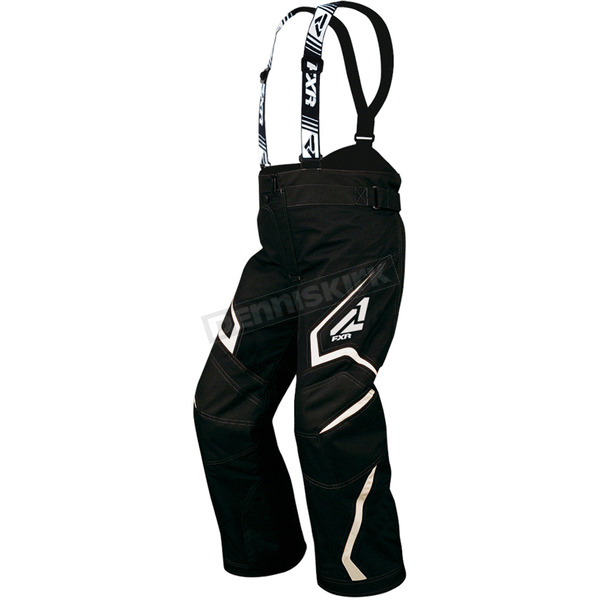 FXR Racing Childs Black/White Helix Pants - 15311.10102