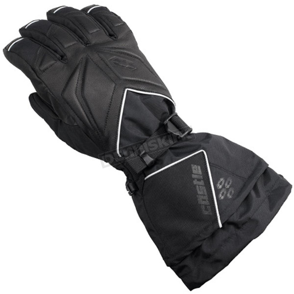Castle X Womens Black Leather/Textile TRS Gloves - 74-4089