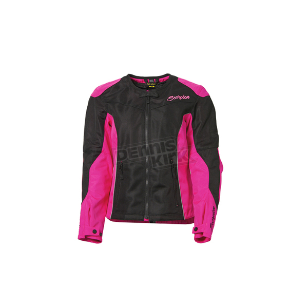 Scorpion Womens Black/Pink Verano Jacket  - 50932-2