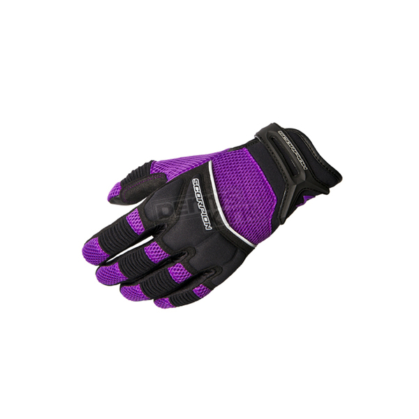 Scorpion Womens Black/Purple Coolhand II Gloves  - G54-763