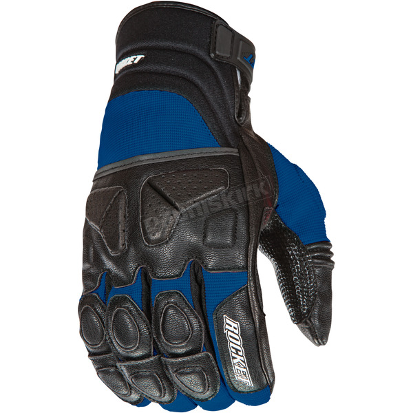 Joe Rocket Black/Blue Atomic X Gloves - 1346-2204