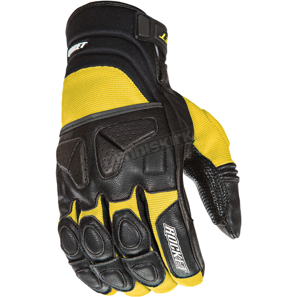 Joe Rocket Black/Yellow Atomic X Gloves - 1346-2405