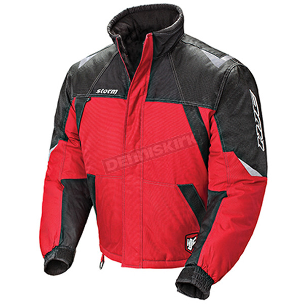 HJC Red/Black/Silver Storm Snowmobile Jacket  - 1405-012