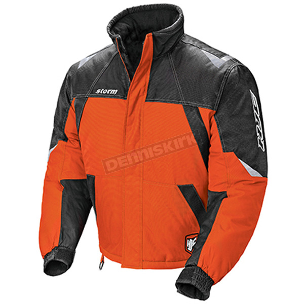 HJC Orange/Black/Silver Storm Snowmobile Jacket  - 1405-072