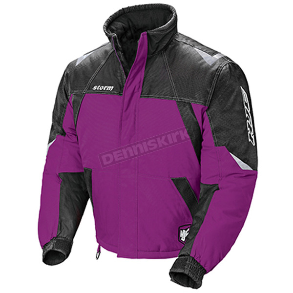 HJC Womens Purple/Black/Silver Storm Snowmobile Jacket  - 1407-093