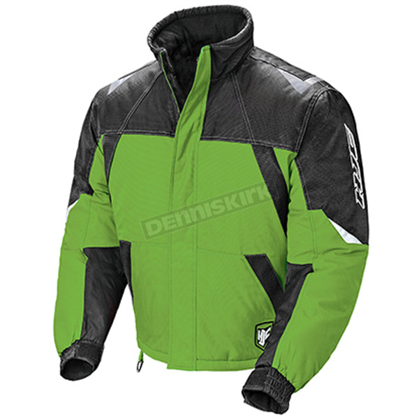 HJC Youth Green/Black/Silver Storm Snowmobile Jacket  - 1409-044