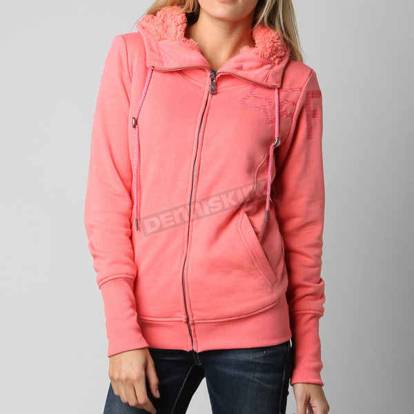 Fox Womens Salmon Forged Sherpa Zip Hoody - 10717-232-S