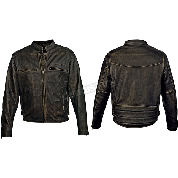 Milwaukee Motorcycle Clothing Co. Vintage Black Distressed Crazy Horse Jacket - MV5158L